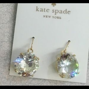 Kate Spade ♠️ Shine on Clear Crystal Drop Earrings